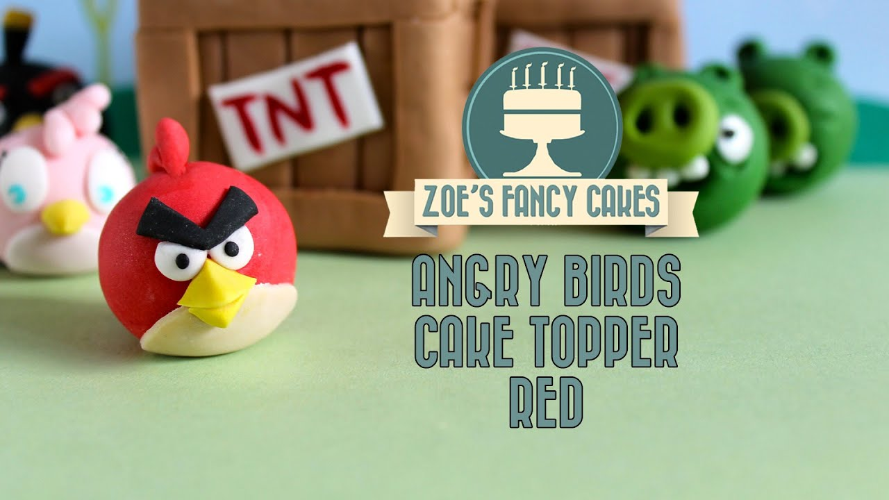 Angry birds Red bird cake topper How to make angry birds cakes red
