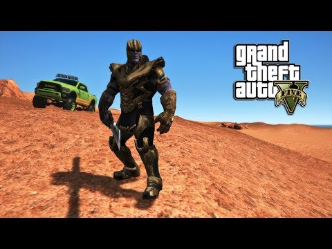 THANOS ENDGAME VS THE GATE MONSTER! (GTA 5 PC MODS)