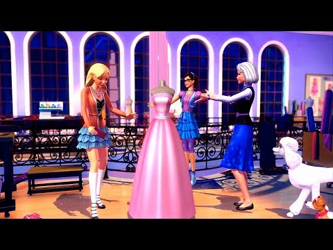 """Barbie: A Fashion Fairytale - """"Get Your Sparkle On"""" Millicent's new line of dresses"""