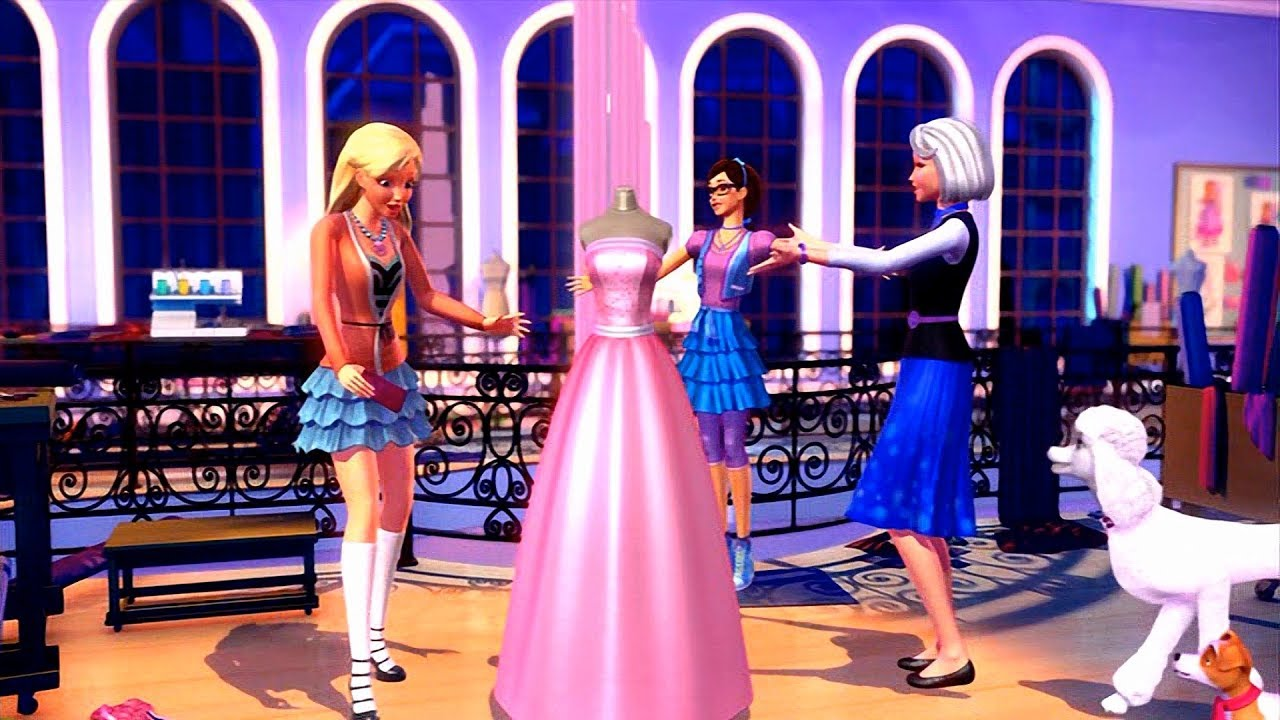 Barbie A Fashion Fairytale Get Your Sparkle On Millicent S New Line Of Dresses Youtube
