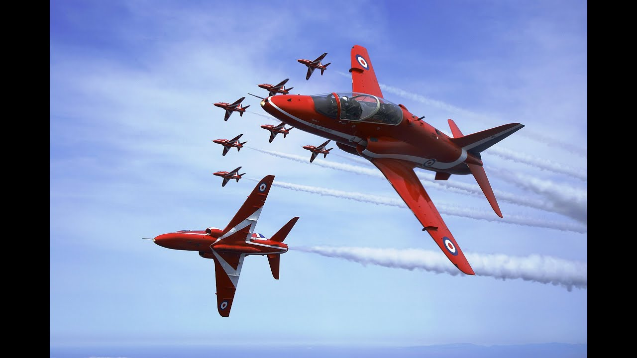 How To Draw Plane Raf Red Arrows Aerobatic Team Youtube