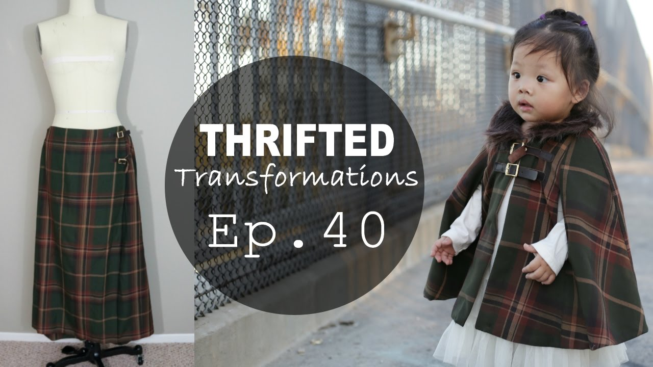 Thrifted Transformations Ep 40 Diy Cape Coat