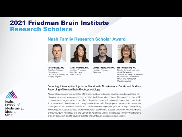 FBI Research Scholars: Drs. Fedor Panov, Allison Waters, James Young & Helen Mayberg