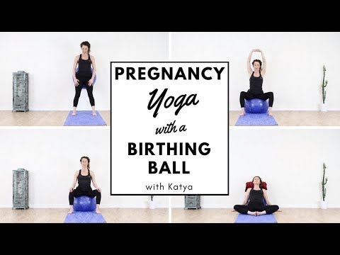 Pregnancy Yoga with a Birthing Ball