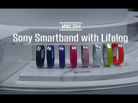 Sony Smartband with Lifelog First Look | MWC 2014 @sonyxperiagb