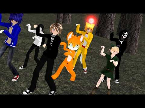 [MMD] - Creepypasta and Fox - What does the fox say?