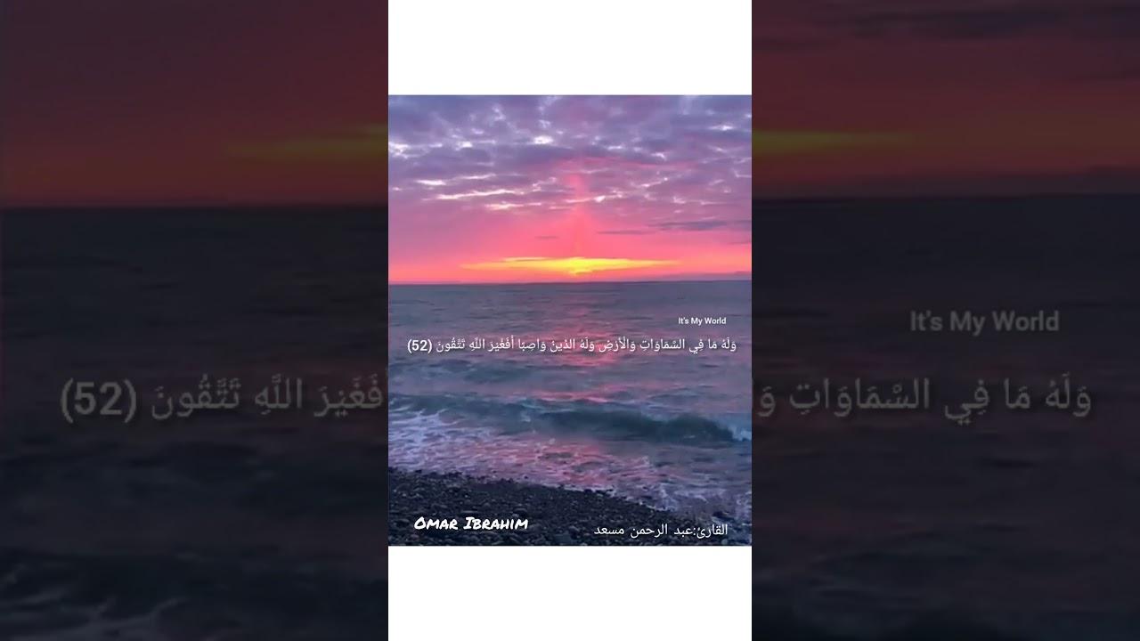 قراءه مميزه من القارئ عبد الرحمن مسعد لسورة النحل ?