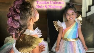 TODDLER UNICORN HAIR & MAKEUP | PERFECT FOR HALLOWEEN!