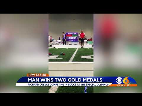 Man wins two gold medals in Special...