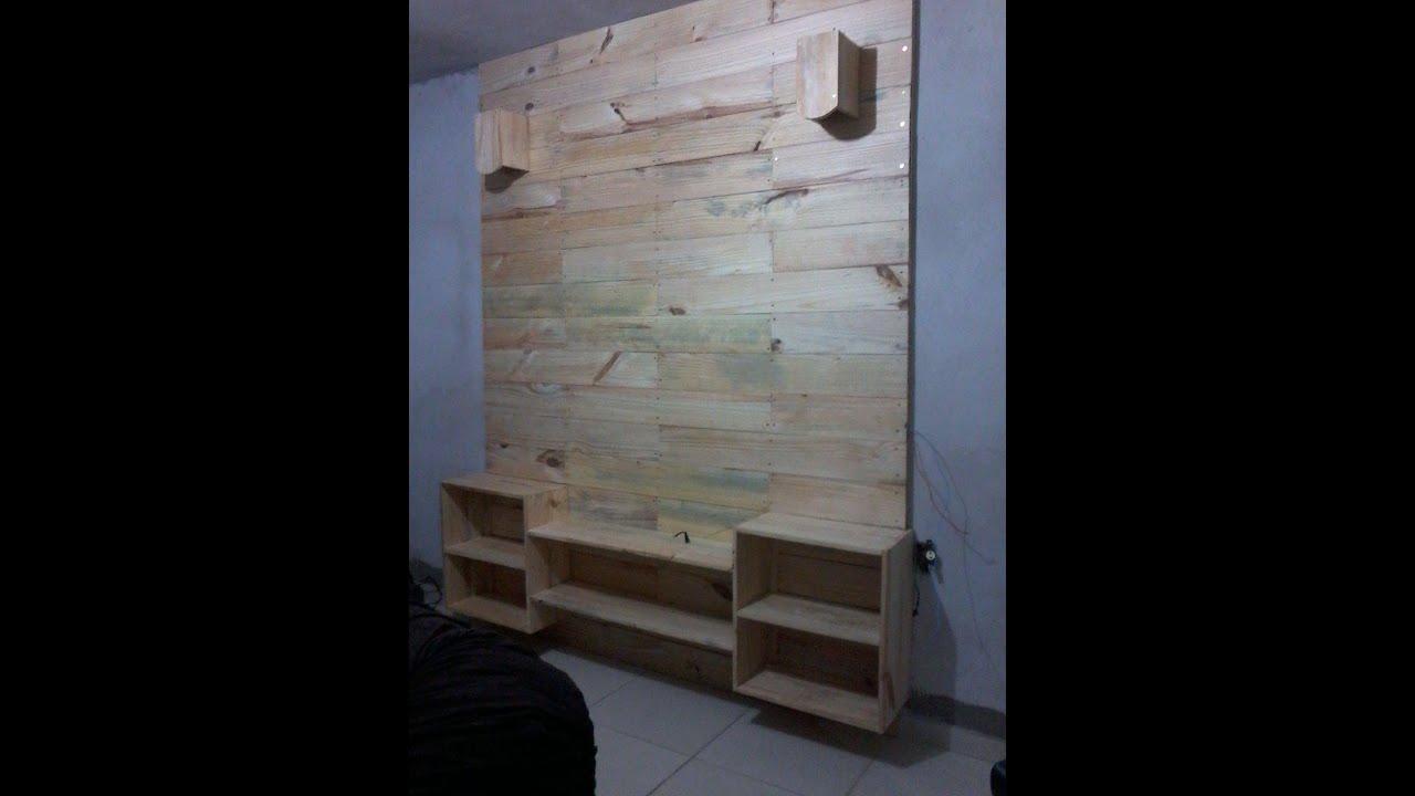 Painel de madeira para TV   #50596A 1200x1600