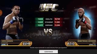 UFC mobile John Dodson Flyweight career mode stage 150 - 153