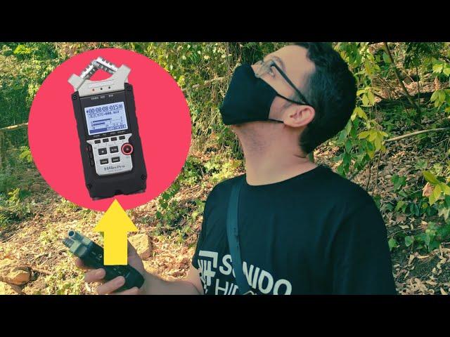 Grabando sonidos del bosque para crear Beats LOFI