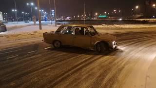ДриФт на глобусе (часть четвертая) drift на Жигулях. Зима 2019 (январь)