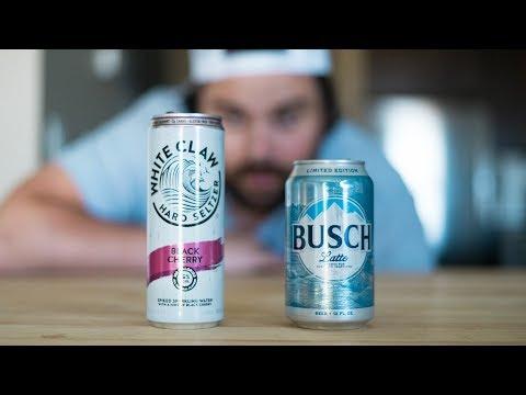 White Claw vs Busch Light 🌊🍺 - YouTube
