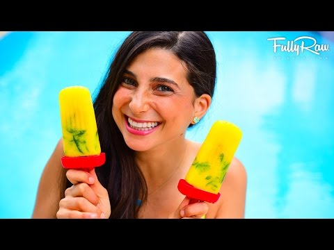 Pineapple Mango Mint Popsicles! ☀️�� FullyRaw & Vegan!