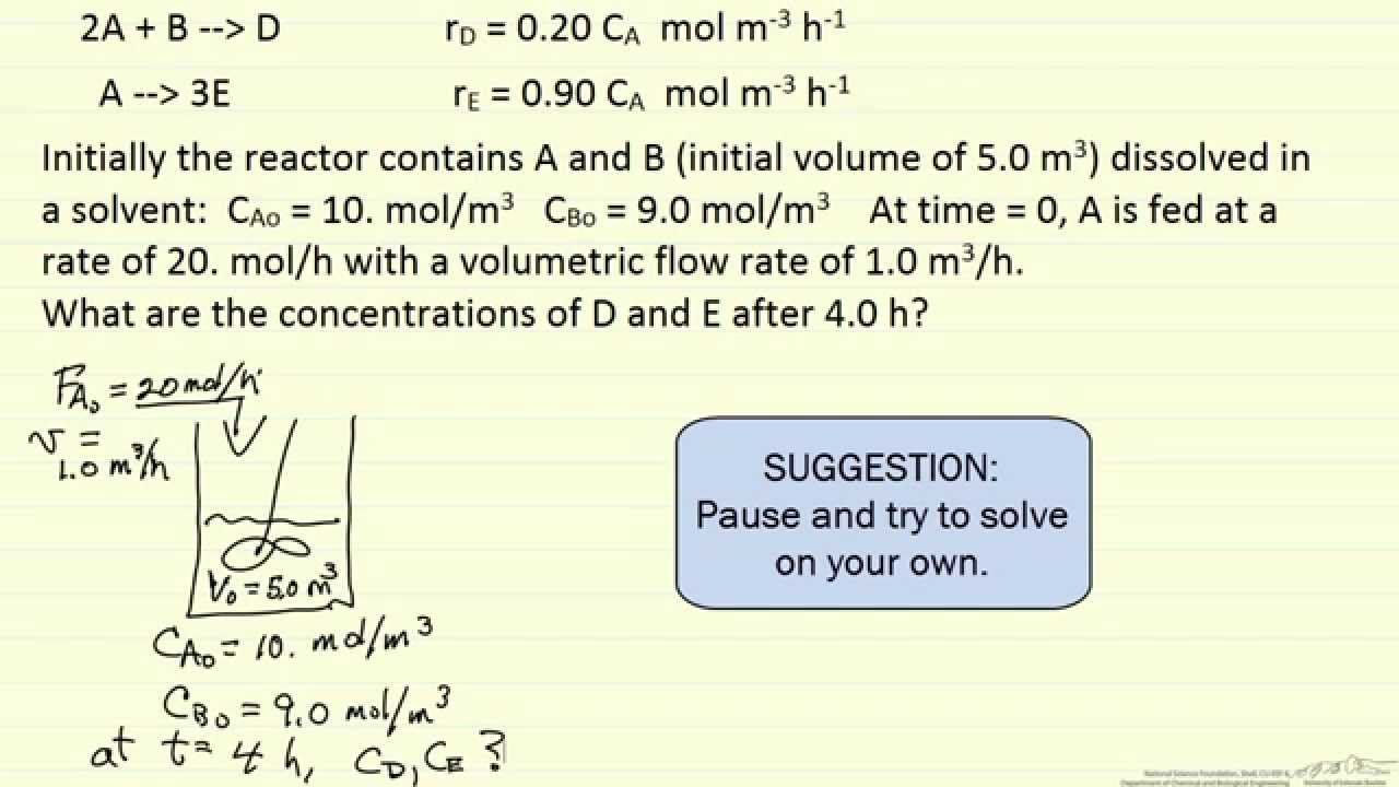 how to find extent of reaction multiple reactions