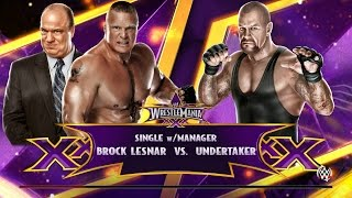 WWE 2K15 - The Undertaker vs Brock Lesnar w/ Paul Heyman | Single w/ Manager Match | PS4 Gameplay