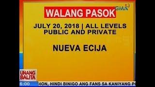 UB: Walang pasok ngayong Biyernes sa Nueva Ecija, all levels public and private