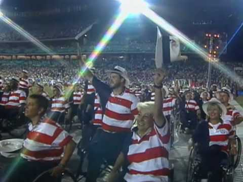 Dave Sims Editor 1996 Paralympics Closing Ceremony Scoreboard Video