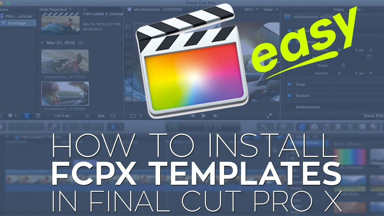 How To Install Final Cut Pro X Plugins Fcpx Templates Youtube