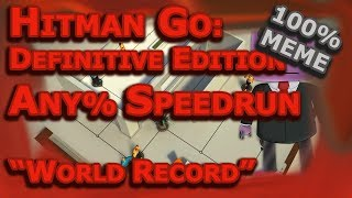 Hitman Go: Definitive Edition | Speedrun | Any% 42:59 | With Commentary