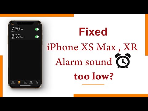 iPhone XS Max, XR Alarm Sound too low? (Fixed)