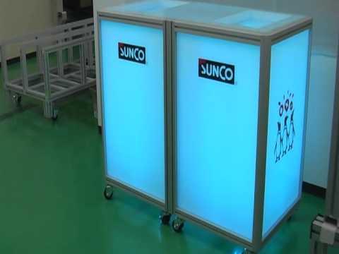 20111125サンコーインダスト展示台LEDテスト1