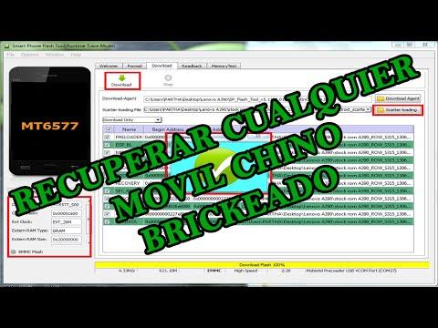 TUTORIAL FLASH TOOL RECUPERAR CUALQUIER MOVIL CHINO BRICKEADO | Hack Veneno