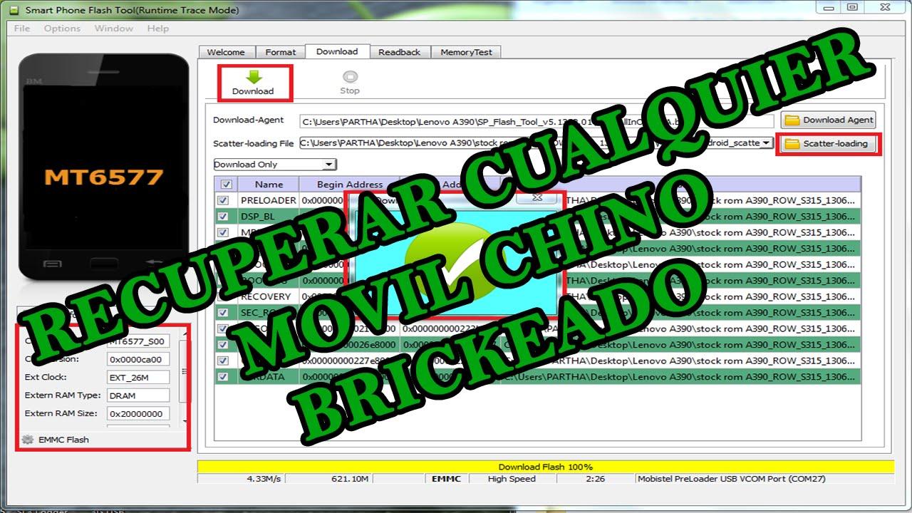 Download TUTORIAL FLASH TOOL RECUPERAR CUALQUIER MOVIL CHINO BRICKEADO | Hack Veneno