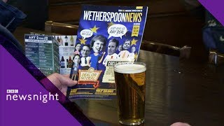 The Brexit bar crawl with Wetherspoons boss Tim Martin - BBC Newsnight
