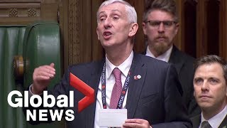 New Speaker of the U.K. House of Commons elected
