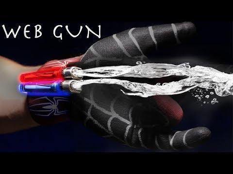 Make a SPIDER-MAN Web Shooter - $5 SHOOTS REAL NYLON WEBS!!! (SUPER SIMPLE BUILD)
