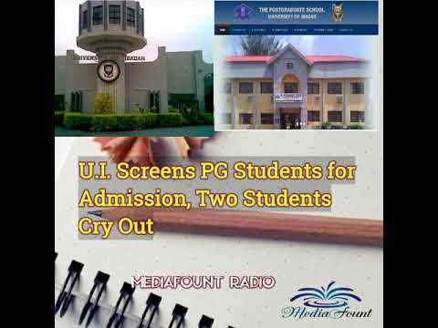 U.I. Screens PG Students - Two Students Cry Out