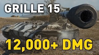 World of Tanks || Grille 15 - 12,000+ DMG...