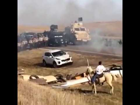 Authorities from seven states have been called in to remove Dakota Access Pipeline Water Protectors
