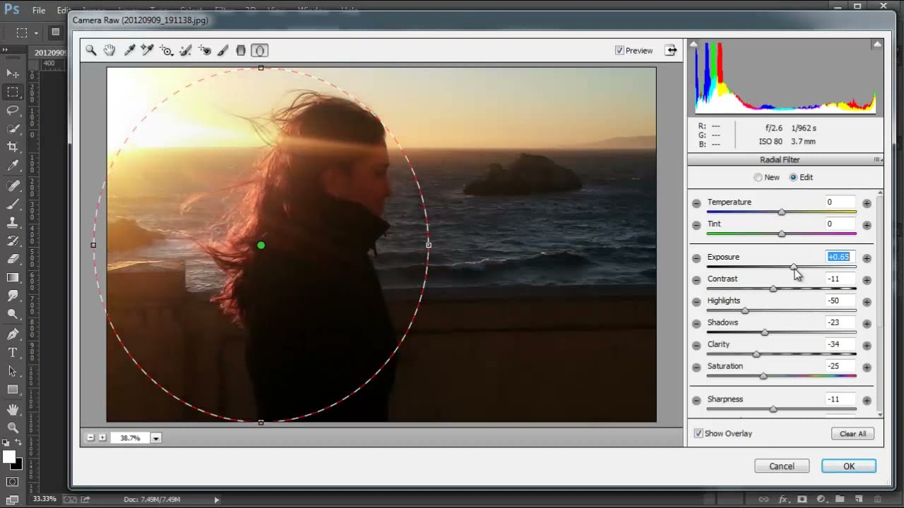 Camera Raw Radial Filter - Photoshop CC Tutorial - YouTube