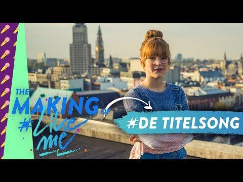 The making of #LikeMe   In de opnamestudio voor de titelsong van #LikeMe