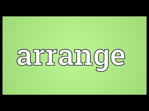 Arrange Meaning