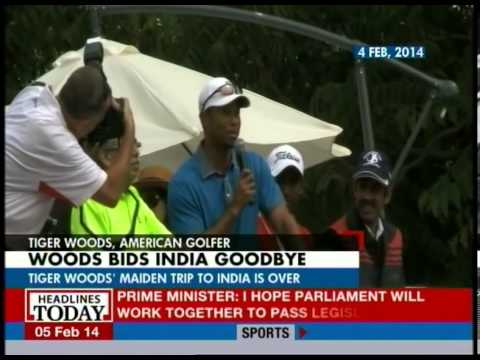 Tiger Woods maiden trip to India draws to a close