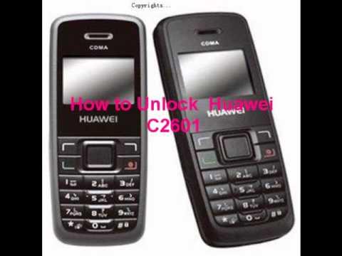 Huawei C2601 Unlock Code - Free Instructions