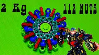 DIY СПИННЕР ТРАНСФОРМЕР СВОИМИ РУКАМИ ИЗ 112 СТАЛЬНЫХ ГАЕК!!!