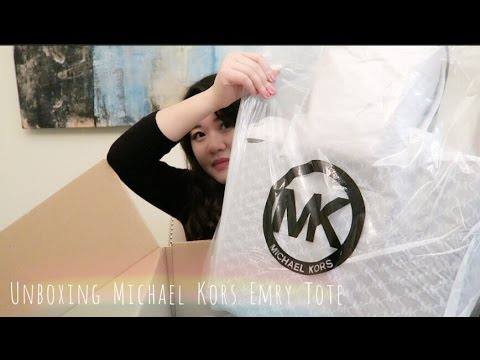Unboxing Michael Kors Emry Tote