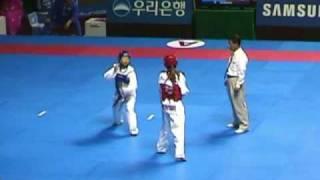 陳詩欣vs韓國:2002年釜山亞運會跆拳道比賽實況