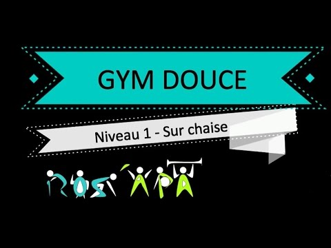 S ance de gym douce niveau 1 sur chaise 50 minutes for Abdos assis sur une chaise