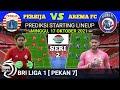 PERSIJA VS AREMA FC Prediksi Starting Lineup    Bril  Liga 1 Live Indosiar