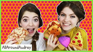 SQUISHIES VS REAL FOOD SWITCH UP CHALLENGE! / AllAroundAudrey