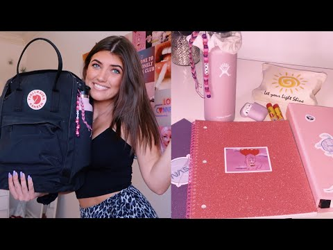 BACK TO SCHOOL SUPPLIES HAUL! / Junior Year Whats In My Backpack *aesthetic*