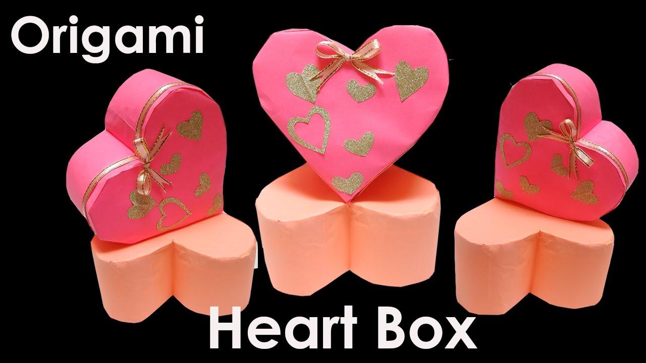 Origami heart box valentines chocolate box heart shaped box origami heart box valentines chocolate box heart shaped box origami heart 3d origami jeuxipadfo Gallery