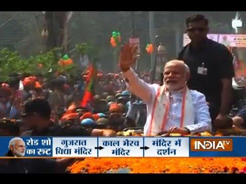 PM Modi Roadshow Heads to Kashi Vishwanath Temple in Varanasi