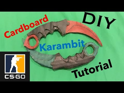 How to make a Cardboard Karambit from CS-GO